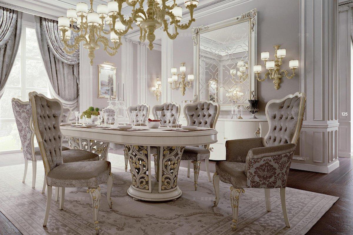 新股嗲意大利餐桌椅