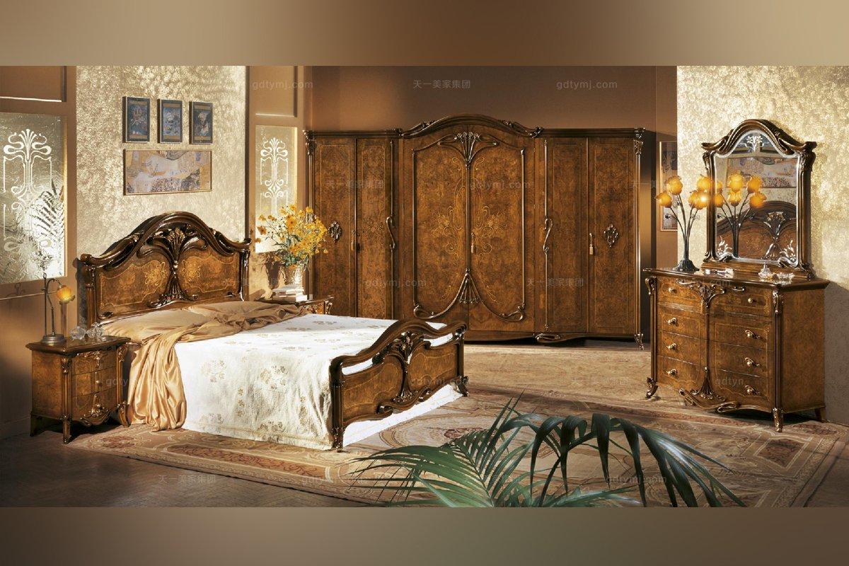 美式实木家具双人床