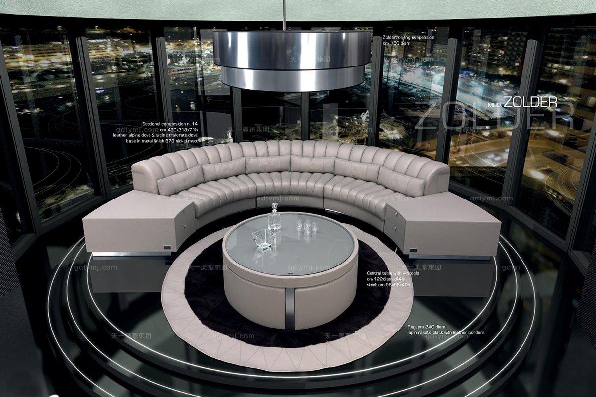 顶级奢侈家具品牌转角沙发