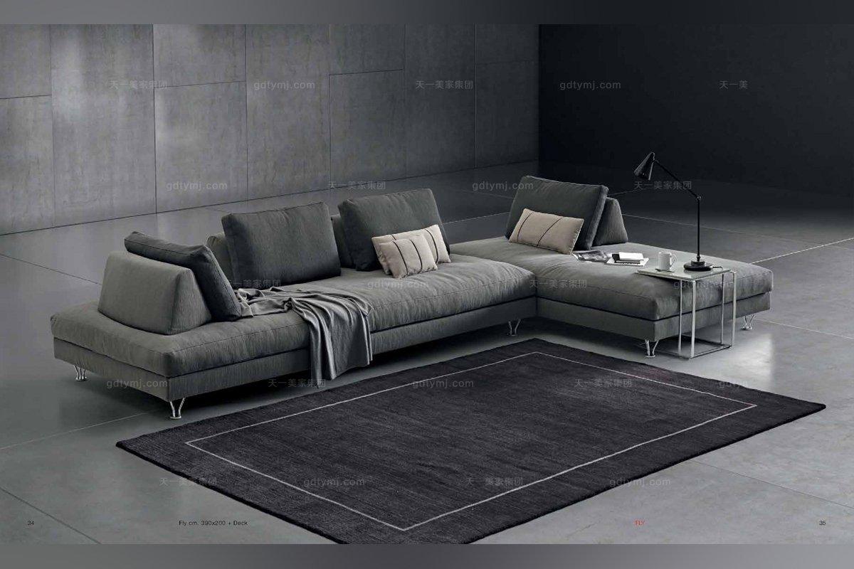 意大利灰色沙发