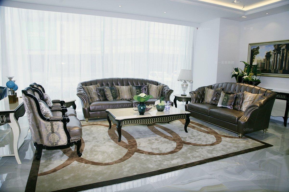欧式客厅三位沙发