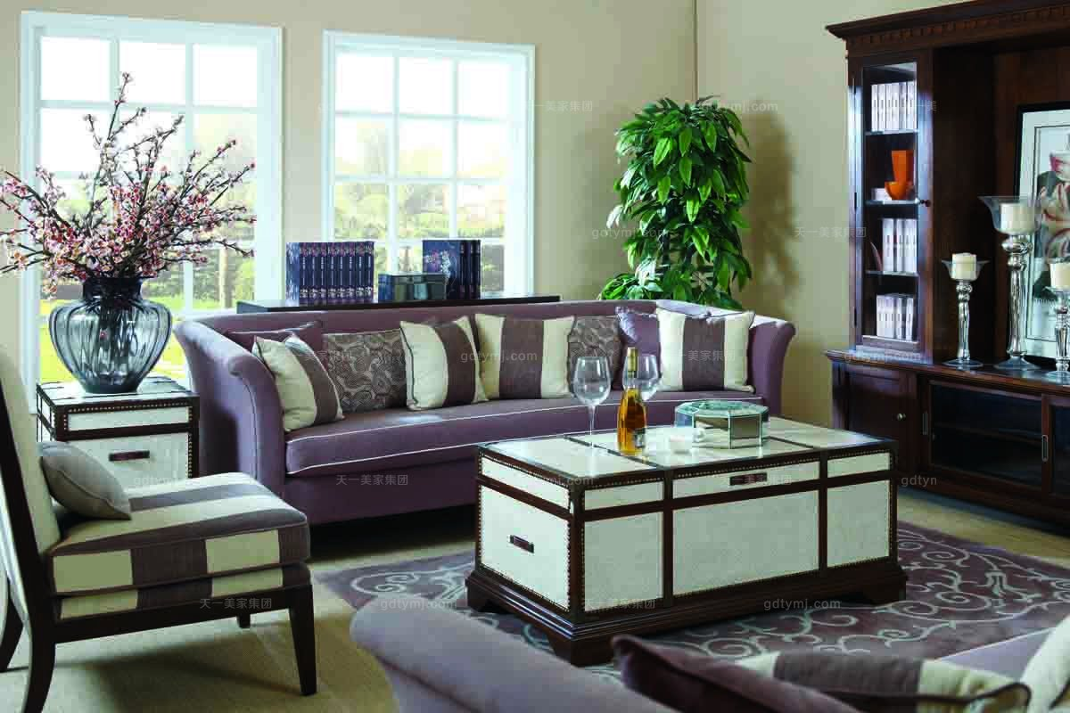 别墅美式三位沙发